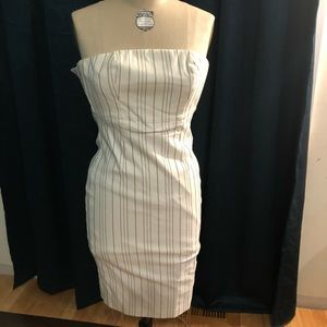 Vintage Express stripped dress with option straps